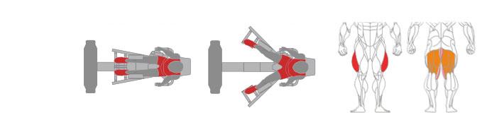 Máy ép đùi ngoài Plus X J200 - 13