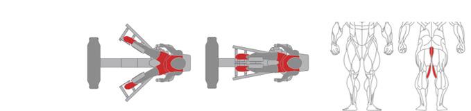 Máy ép đùi trong Plus X J300 - 14