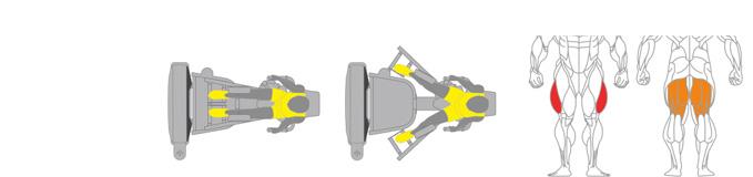 Máy ép đùi ngoài Plus X J400 - 13
