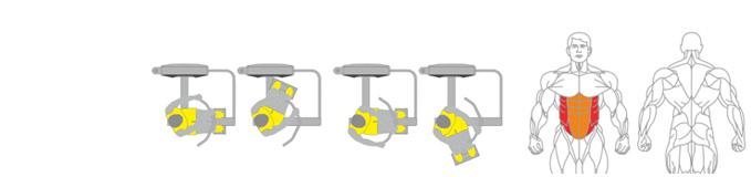 Máy xoay eo Plus X J400 - 18