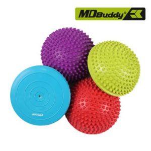 Bộ 4 bóng cân bằng chất liệu cao su PVC MDBuddy MD1431