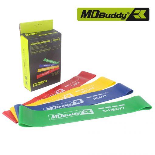 Bộ 4 dây tập thể dục đàn hồi Resistance Loops MDBuddy MD1319