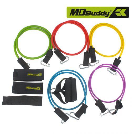 Bộ 5 dây tập thể dục đàn hồi MDBuddy MD1366