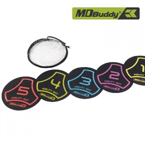 Bộ 5 thảm cao su tập luyện đôi chân MDBuddy MD1373